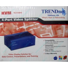 Видеосплиттер TRENDnet KVM TK-V400S (4-Port) в Муроме, разветвитель видеосигнала TRENDnet KVM TK-V400S (Муром)